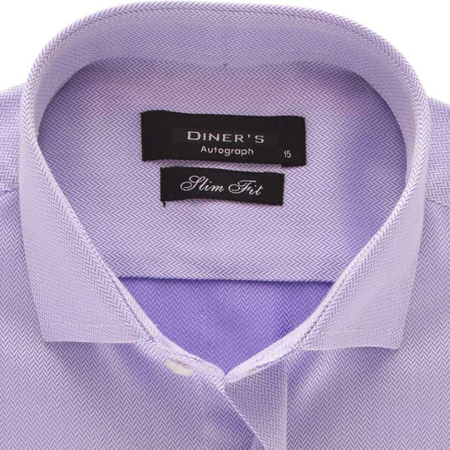 Casual Autograph Shirt in Purple SKU: AH18505-PURPLE