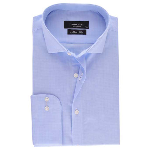 Casual Autograph Shirt in L-Blue SKU: AH18506-L-BLUE