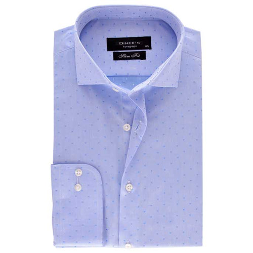 Casual Autograph Shirt in L-Blue SKU: AH18508-L-Blue