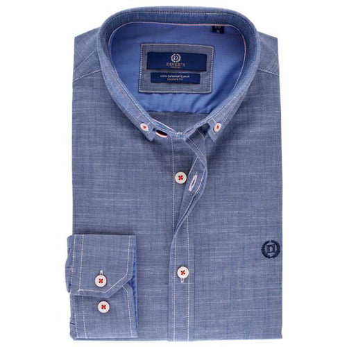 Casual Autograph Shirt in Blue SKU: AH18837-BLUE
