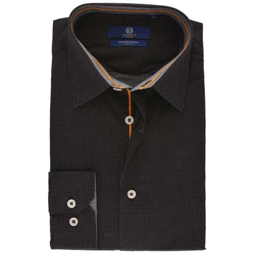 Casual Autograph Shirt in Black SKU: AH19230-BLACK