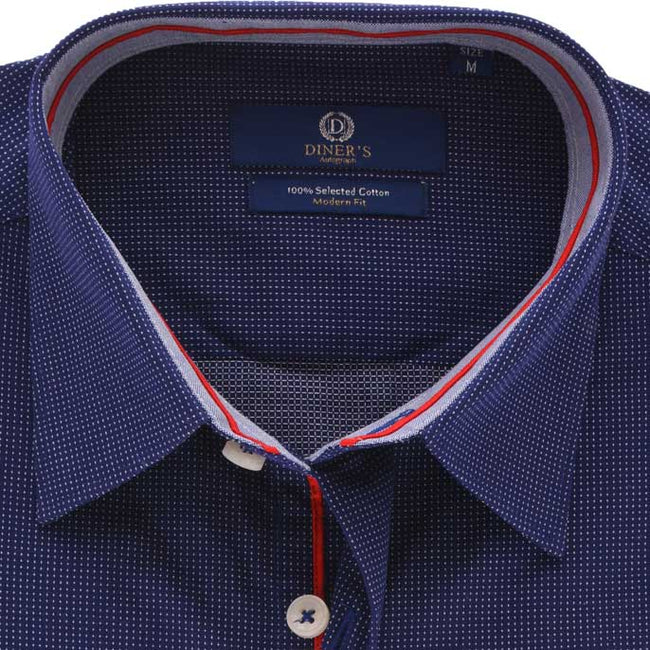 Casual Autograph Shirt in N-Blue SKU: AH19230-N-BLUE