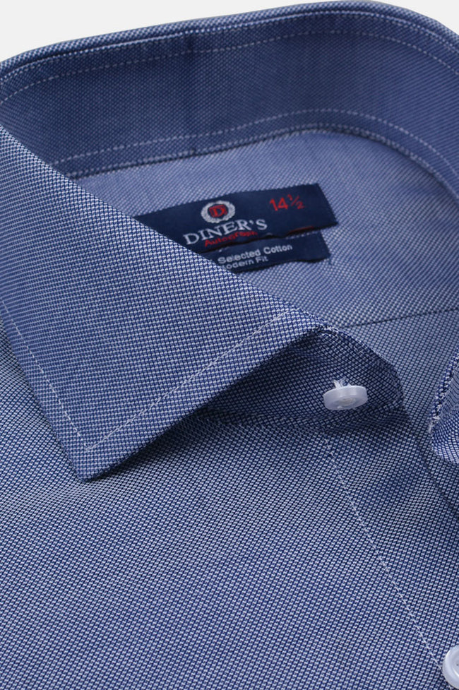 Casual Autograph Shirt in Blue SKU: AH19298-Blue