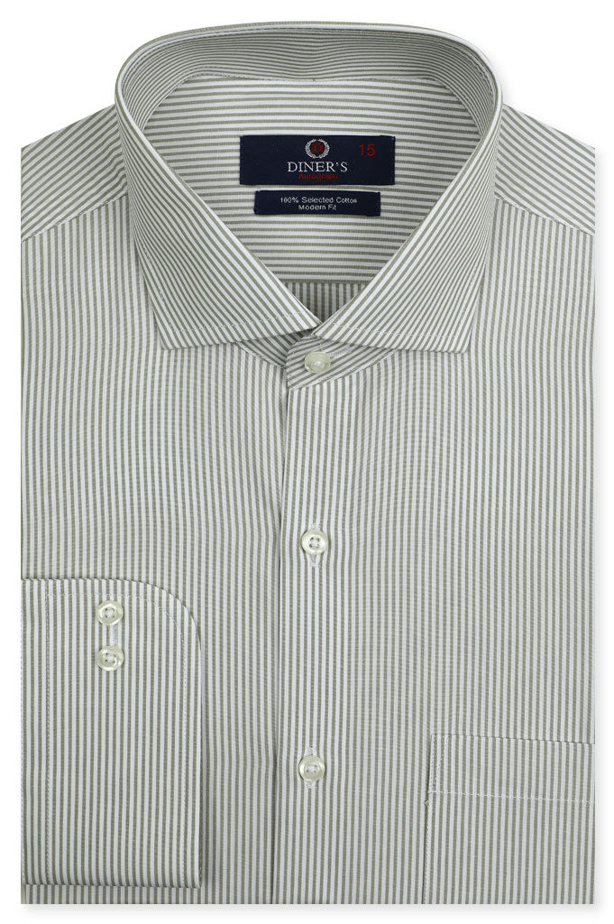Formal Autograph Shirt in L-Green SKU: AH19316-L-GREEN - Diners