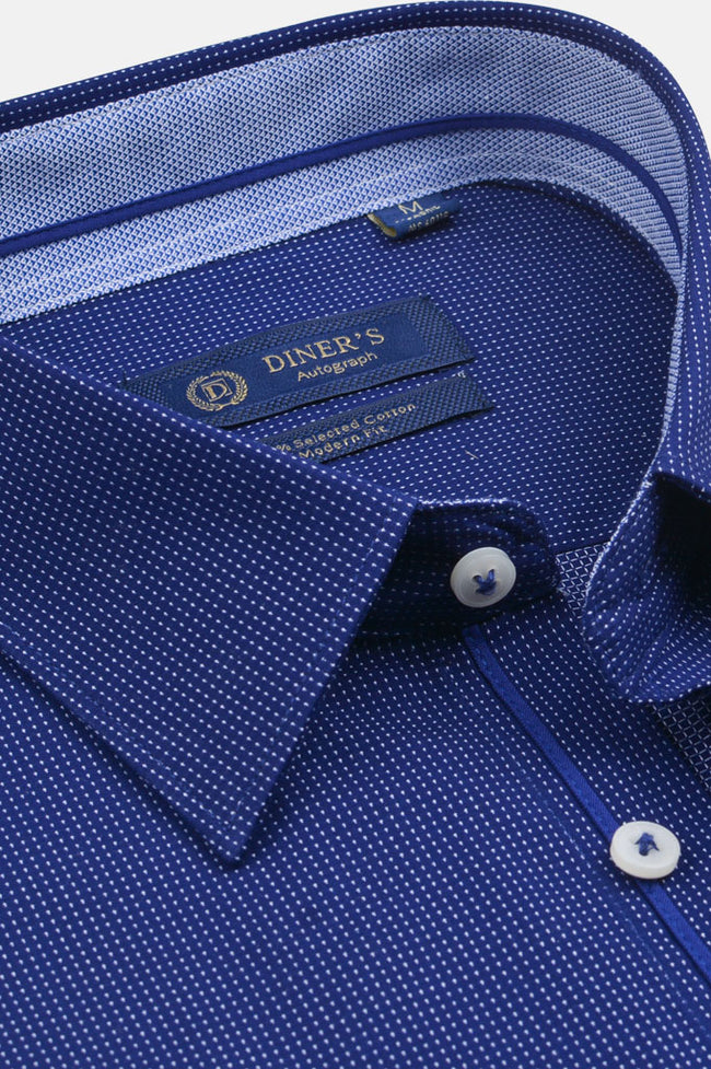 Autograph Shirt in Royal Blue SKU: AH20001-Royal Blue