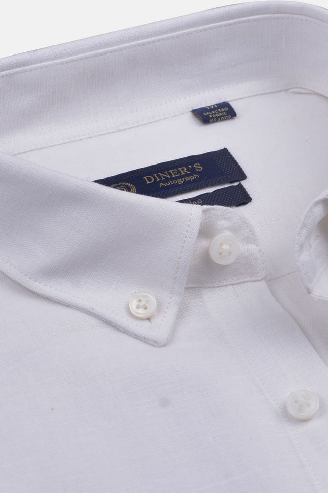 Casual Autograph Shirt in White AH20003 (Slim Fit)