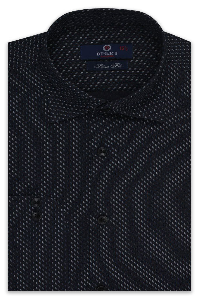 Formal Autograph Shirt SKU: AH20124-BLACK (Slim Fit)