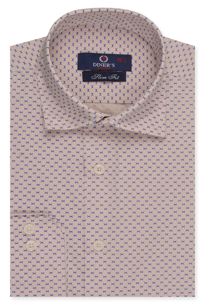 Formal Autograph Shirt SKU: AH20125-FAWN (Slim Fit) - Diners