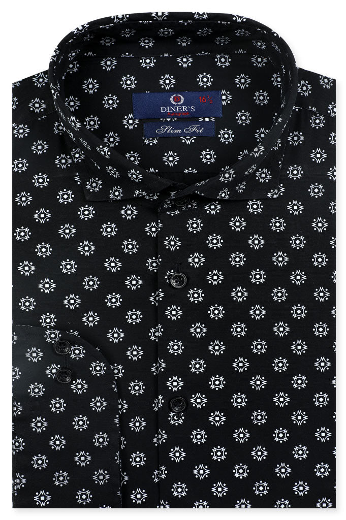 Formal Autograph Shirt in Black SKU: AH20139