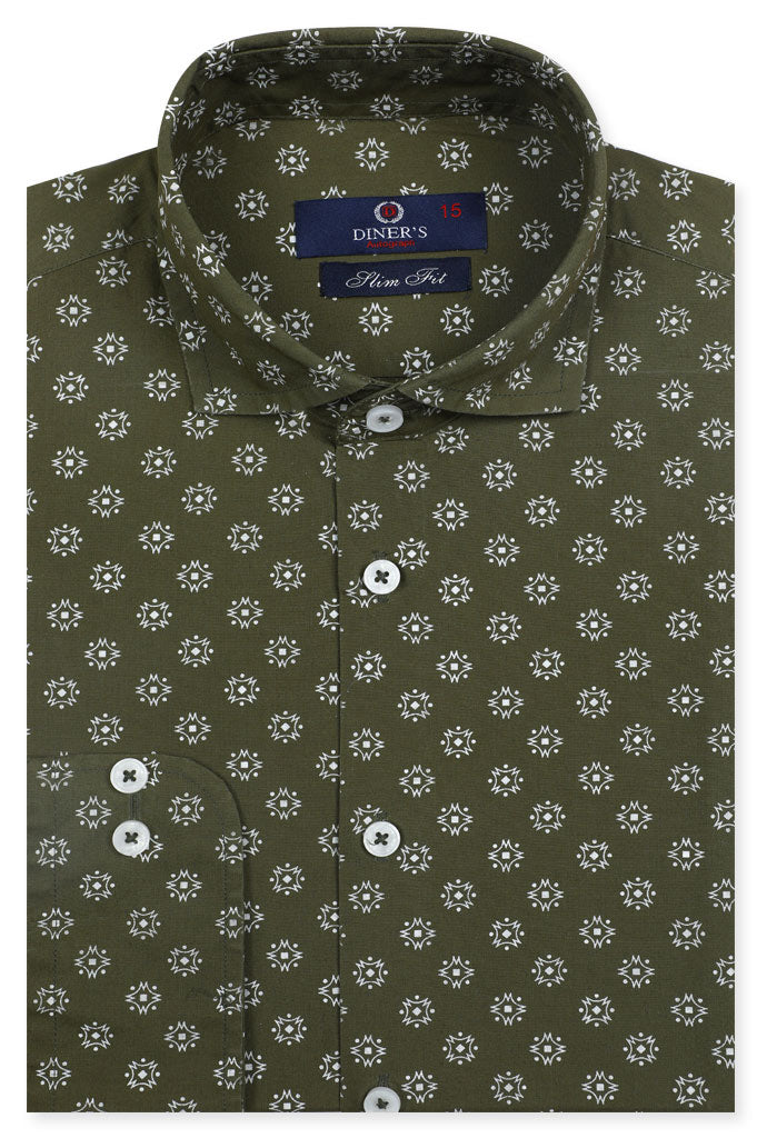 Formal Autograph Shirt in Green SKU: AH20139 - Diners