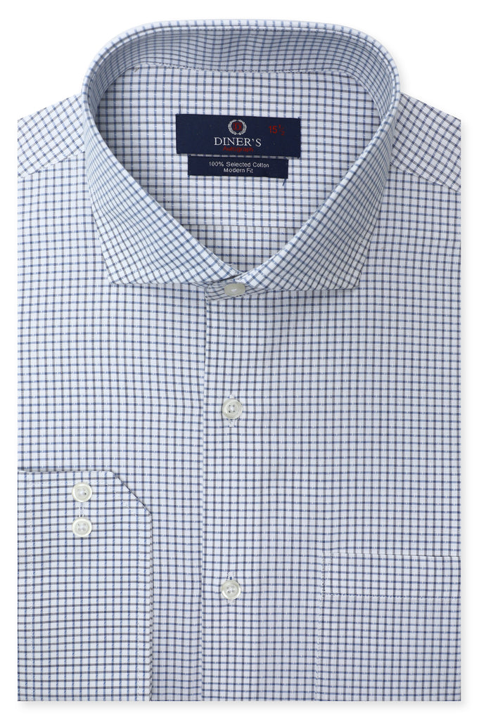 Formal Check Autograph Shirt in Sky Blue SKU: AH20701-SKY BLUE