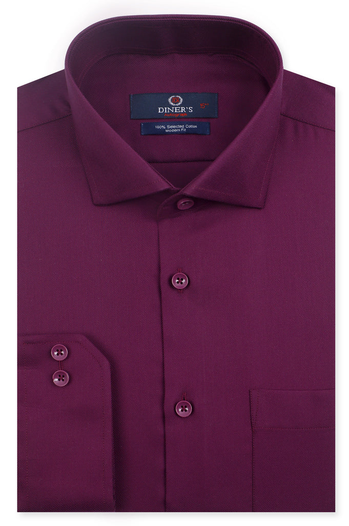 Formal Autograph Shirt SKU: AH22913-MAROON - Diners