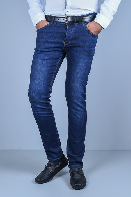 Casual Jeans in N-Blue SKU: BJ2808-N-BLUE