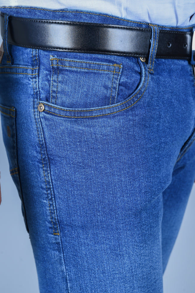 Casual Jeans in M-Blue SKU: BJ2726-M-BLUE