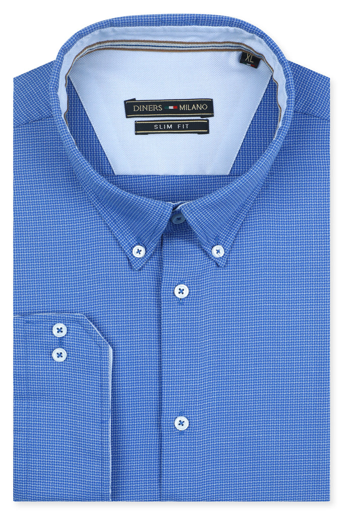 Casual Milano Shirt SKU: AM23201-BLUE - Diners