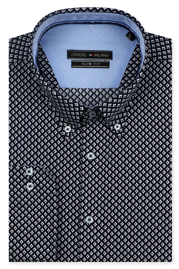 Casual Milano Shirt SKU: AM23440-D-BLUE - Diners