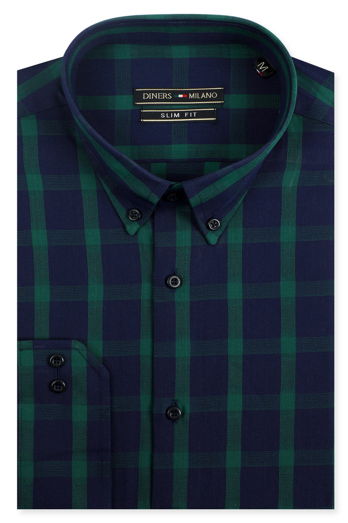 Casual Milano Shirt in Green SKU: AM24820-GREEN - Diners