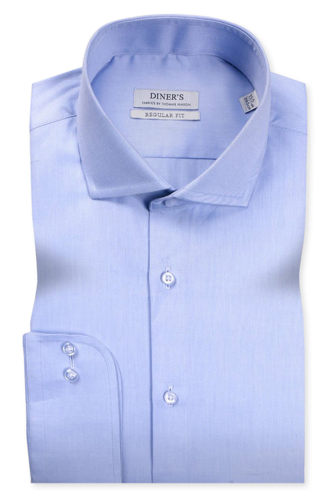 Thomas Mason Shirts Luxury Colar SKU: AT20245-SKY BLUE - Diners