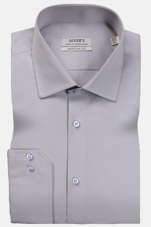 Thomas Mason Shirts Luxury Colar SKU: AT20248-L-Grey