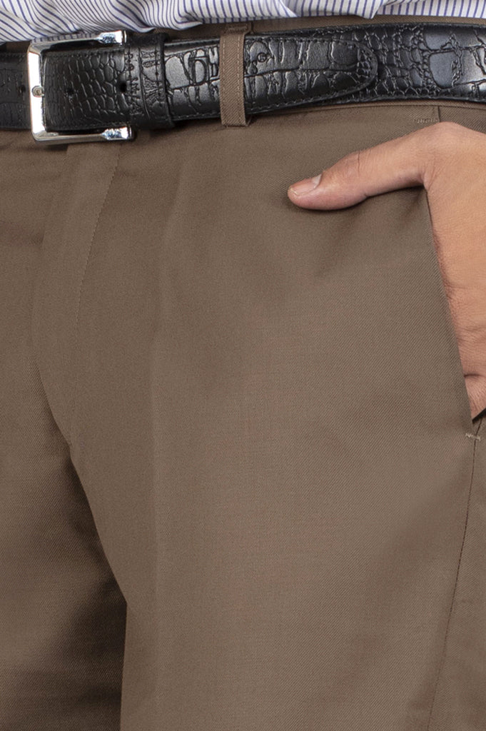 Formal Trouser for Men SKU: BA1458-Brown - Diners