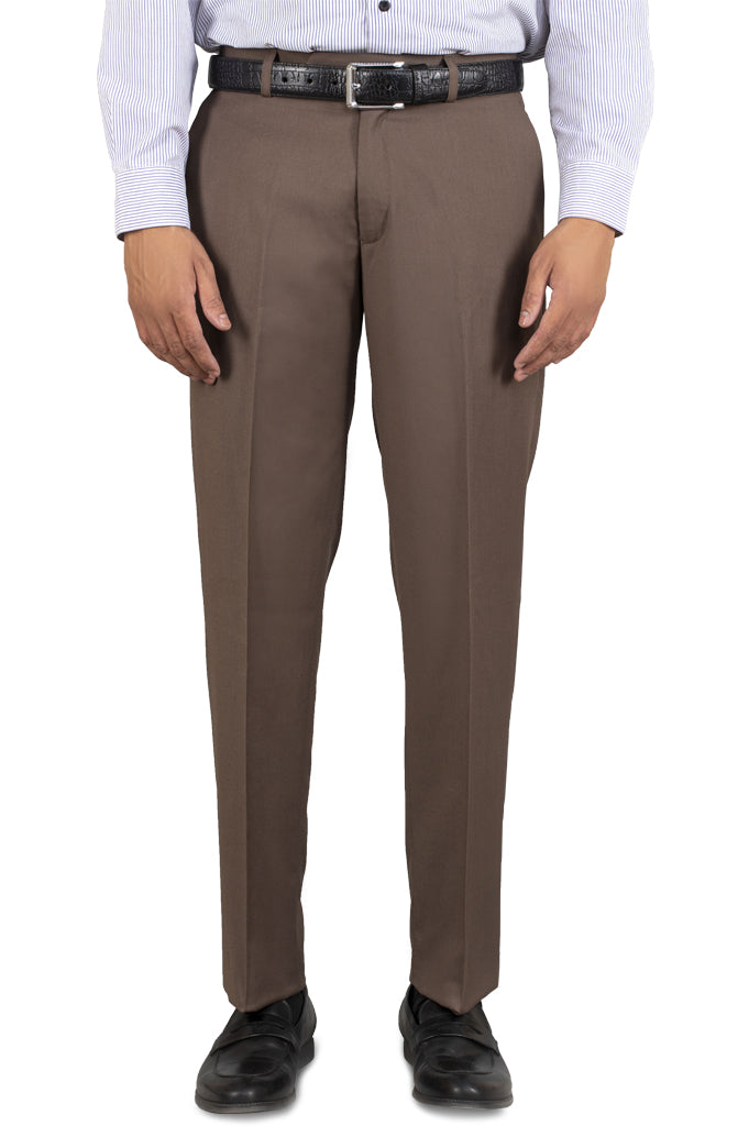 Formal Trouser for Men SKU: BA1458-C-BROWN