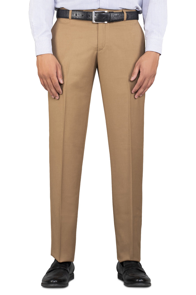 Formal Trouser for Men In Mustard SKU: BA2334-Mustard - Diners