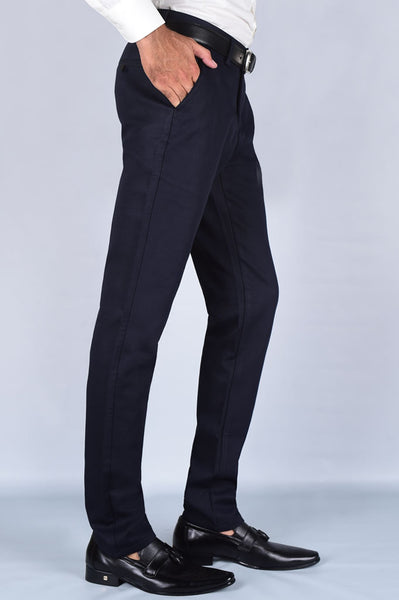 Casual Trouser SKU: BD2669-Navy-Blue