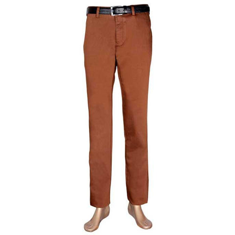 Regular Fit Casual Trouser in D-Brown SKU: BD2426-D-BROWN