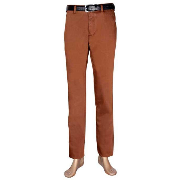 Casual Trouser In Dark Brown SKU: BD2426-Dark-Brown