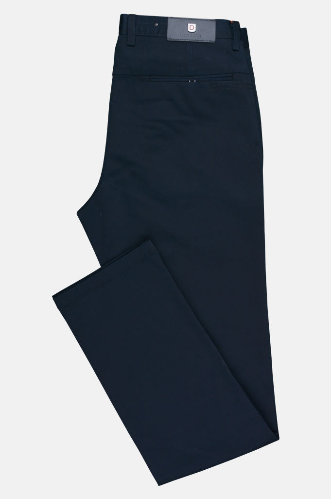Imported Cotton Trouser In Navy Blue SKU: BD2630-Navy Blue