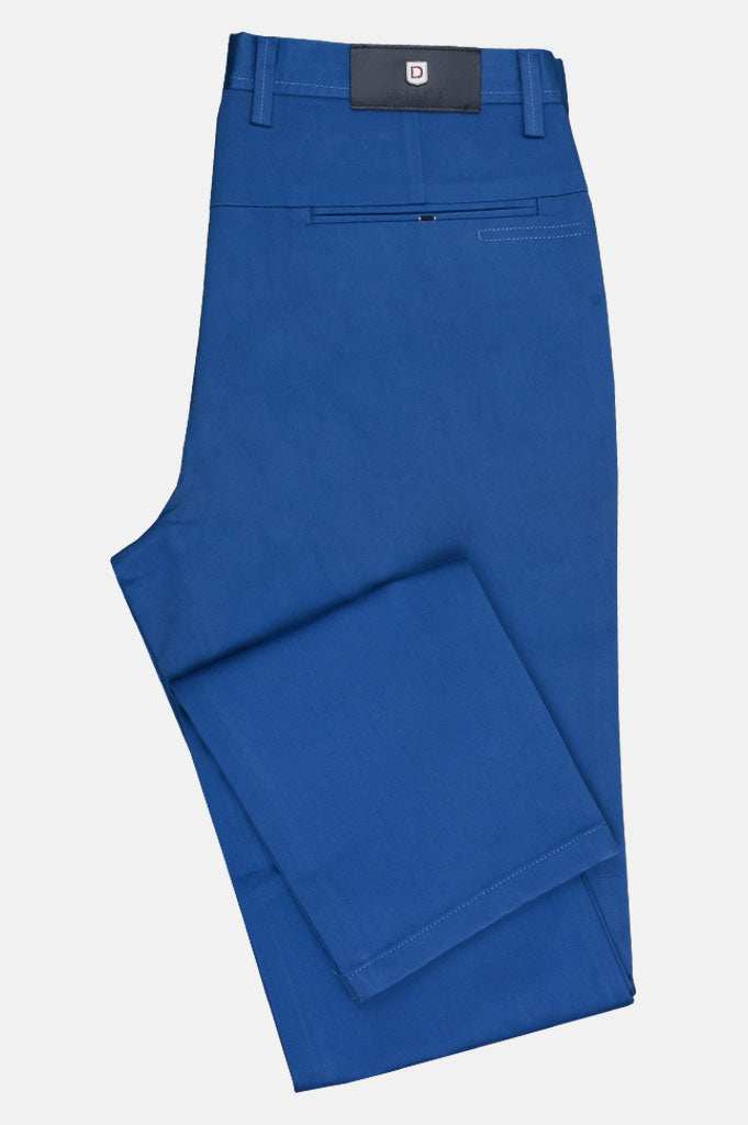 Imported Cotton Trouser In Royal Blue SKU: BD2630-Royal Blue