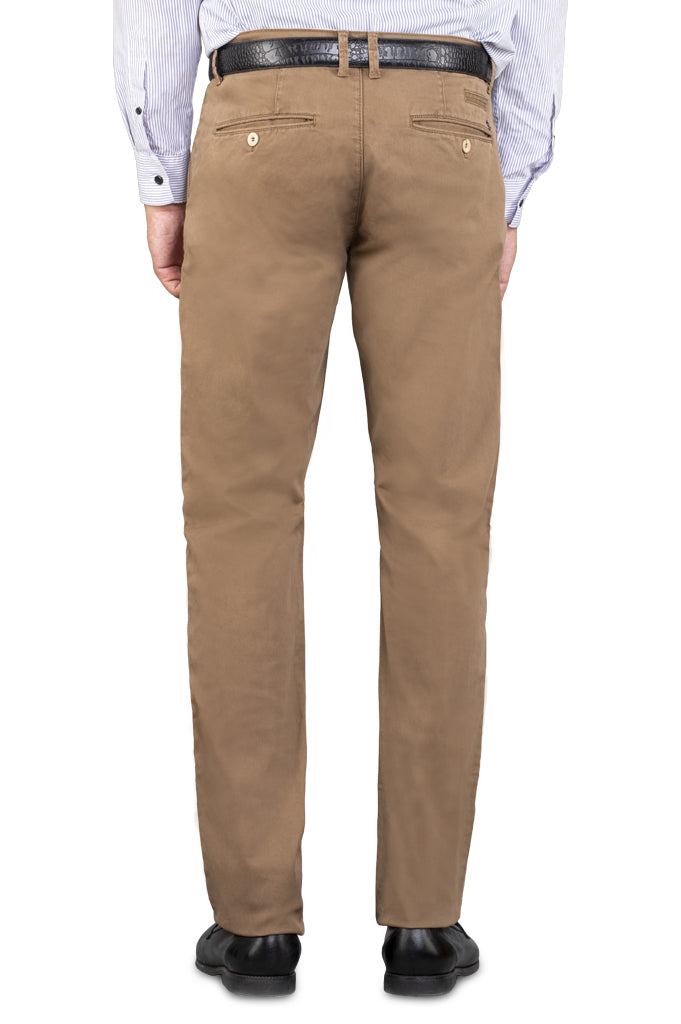 Casual Trouser in Brown SKU: BD2718-BROWN