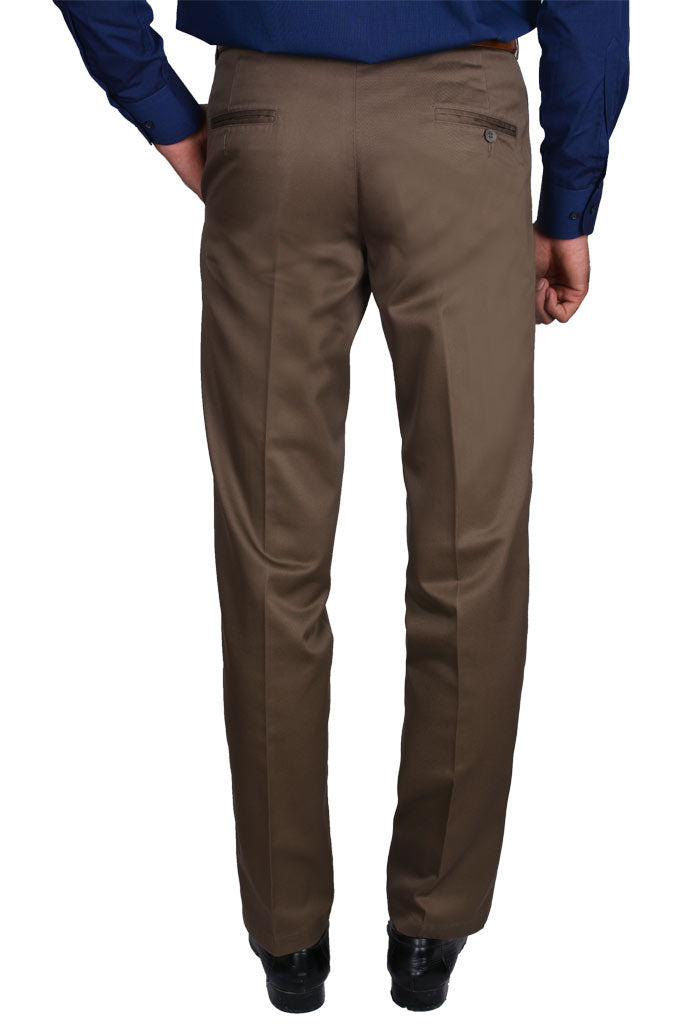 Formal Trouser for Men In Brown SKU: BH2777-Brown
