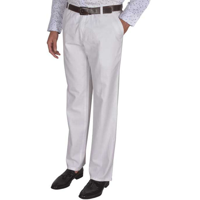 Regular Fit Semi Formal Trouser in White SKU: BI1930-WHITE
