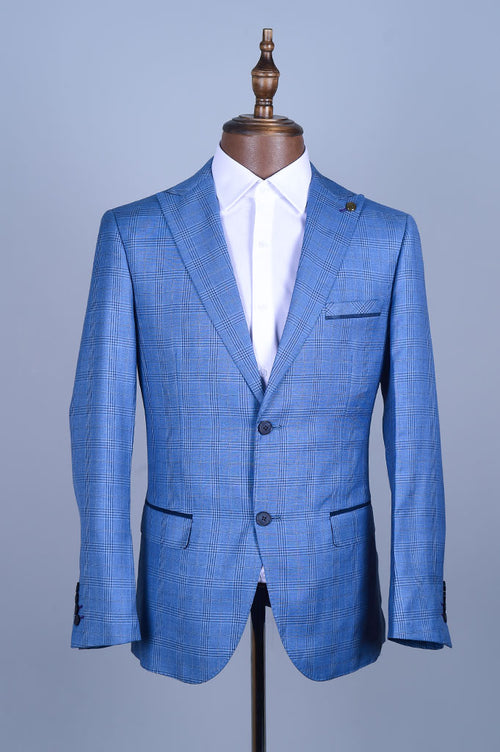 Regular Mens Blazer In SKU: CA3916-BLUE