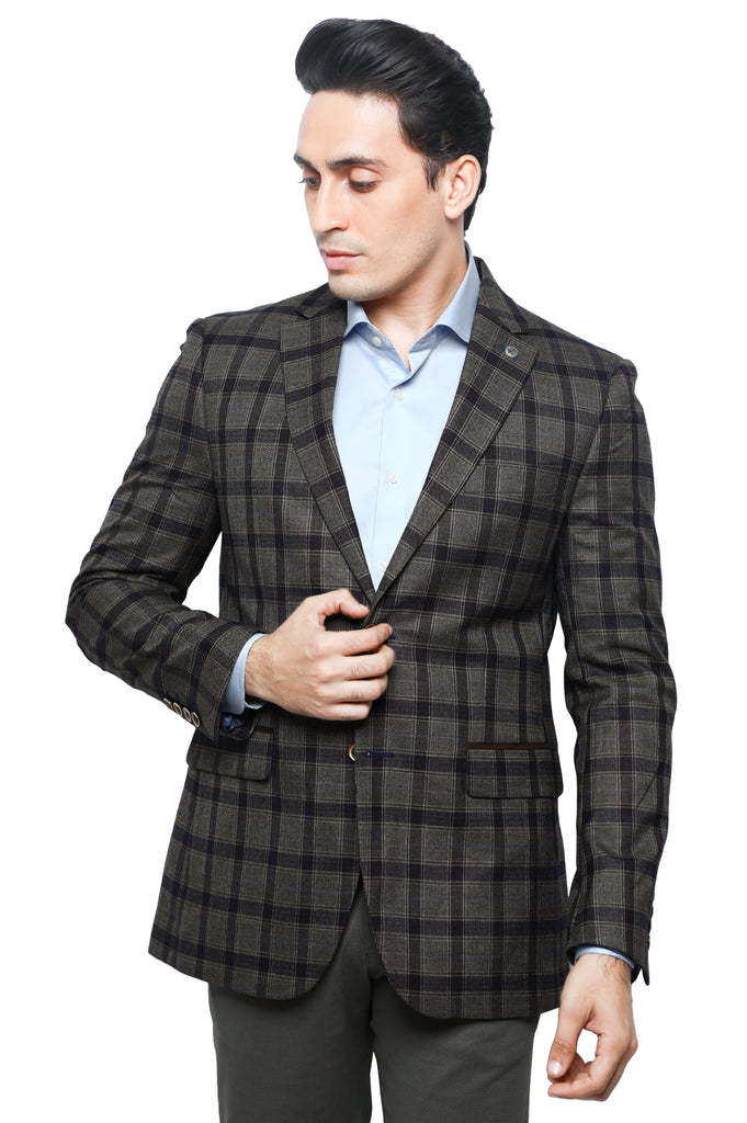Mens Blazer SKU: CA3959-BROWN - Diners