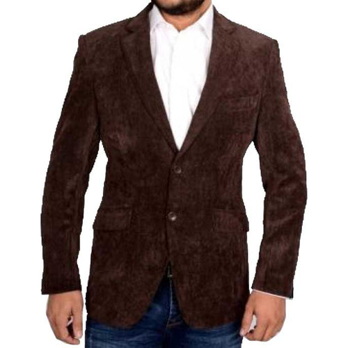 Regular Mens Blazer SKU: CB3853-BROWN