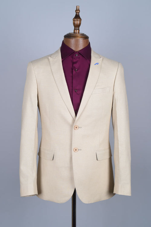 Regular Mens Blazer In SKU: CF3893-Cream