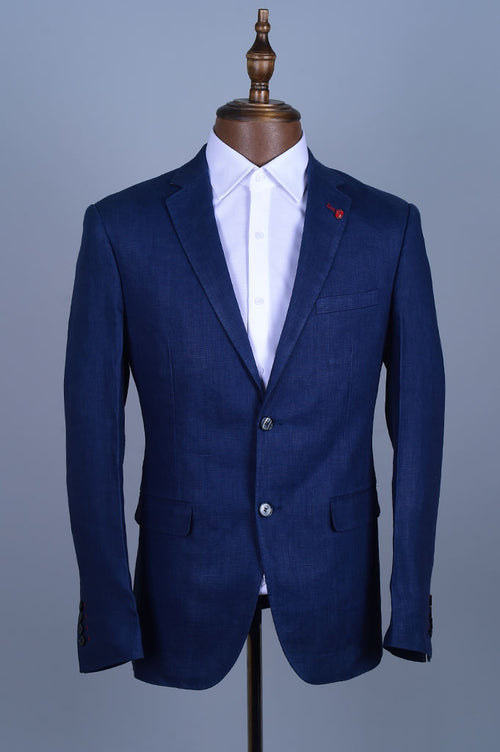 Regular Mens Blazer In SKU: CF3897-Navy-Blue