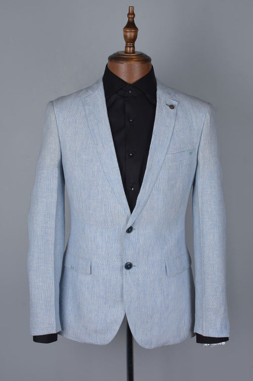Regular Mens Blazer SKU: CF3868-Sky Blue