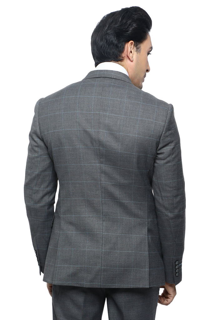 Diner's 2 Pcs Suit in Grey SKU: DA1123-GREY