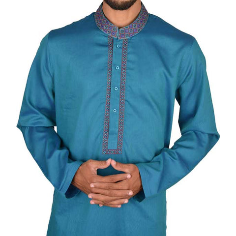 Kurta For Men In Green SKU: EA2138-GREEN
