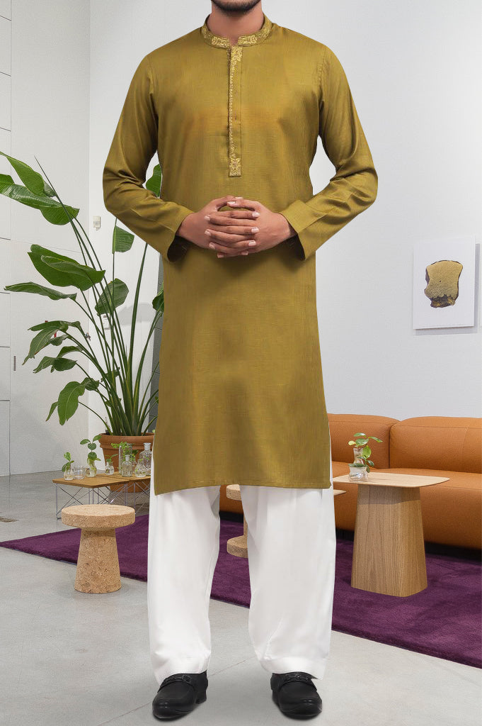 Formal Kurta In Green SKU: EA2376-GREEN