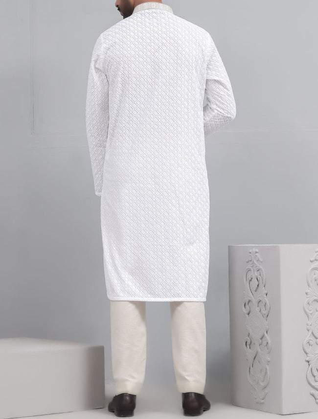 Kurta in White SKU: EA2441E-WHITE