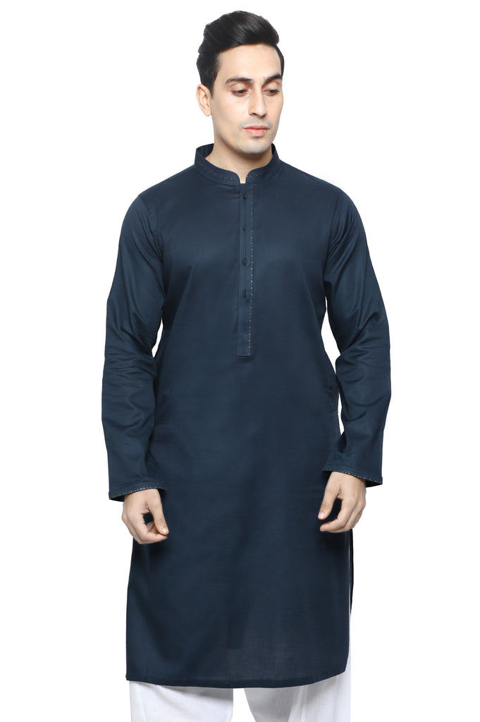 Formal Kurta In N-Blue SKU: EA2571-N-Blue