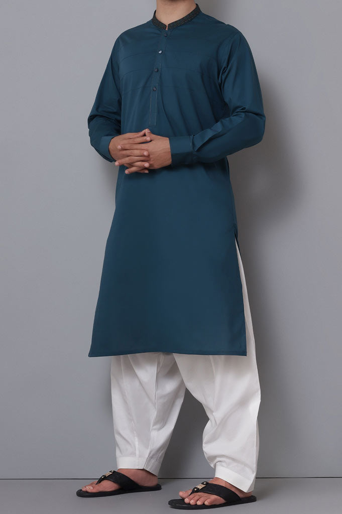 Formal Kurta In D-Green SKU: EA2734-D-Green - Diners