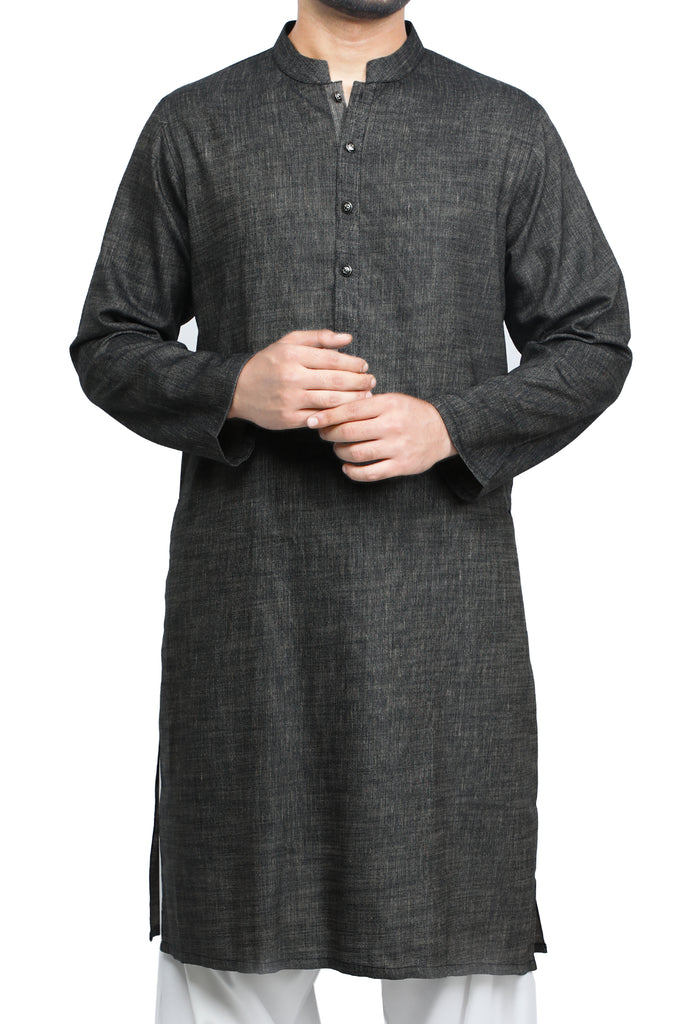 Formal Kurta In D-Grey SKU: EA2765-D-GREY - Diners