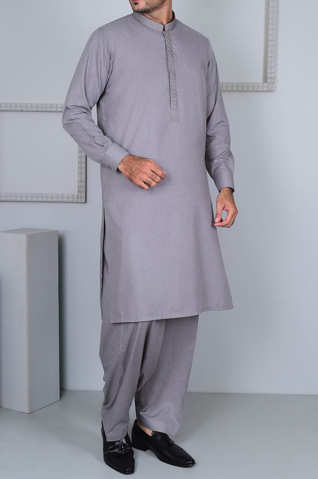 Formal Shalwar Suit for Men EG2615-L-GREY