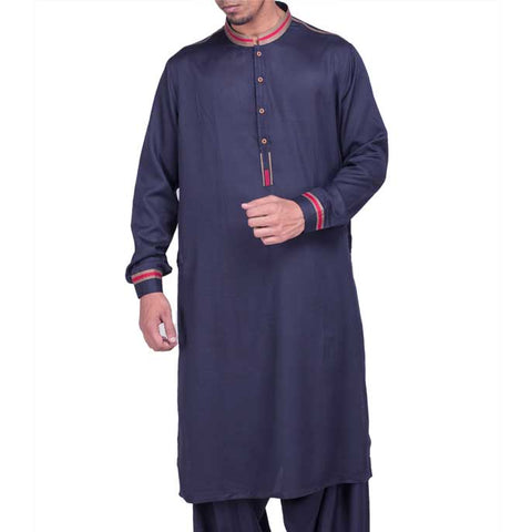 Formal Shalwar Suit for Men (EG2104-N-Blue)