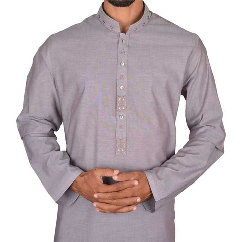 Shalwar Suit For Men In L-Brown Sku: Eg2165-L-Brown